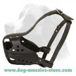 Professional Leather Dog Muzzle - Police Work Muzzle - M56