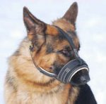German shephed Royal Nappa Leather Dog Muzzle