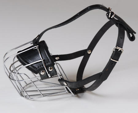 wire basket dog muzzle
