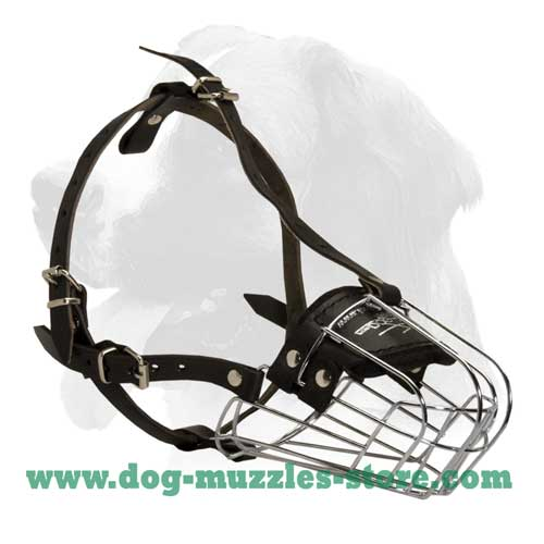 Extra comfortable dog safe wire basket muzzle