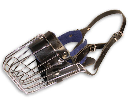 Basket wire dog muzzle for medium breeds - Full padded