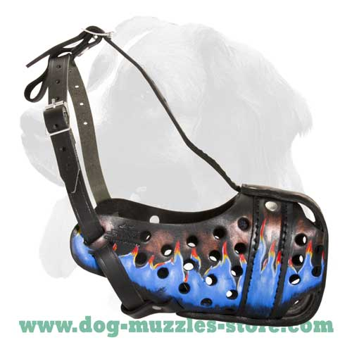 Extreme comfort leather dog muzzle