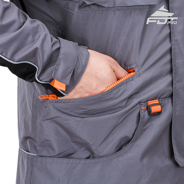 Pro Dog Trainer Jacket with Back Pockets for All Weather