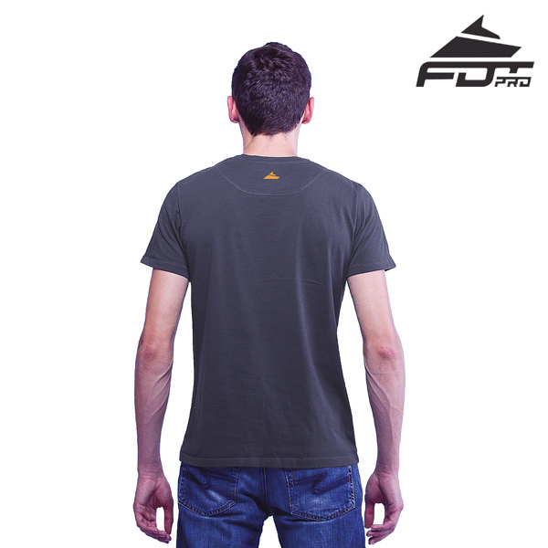 Men T-shirt Dark Grey Color FDT Pro for Dog Walking