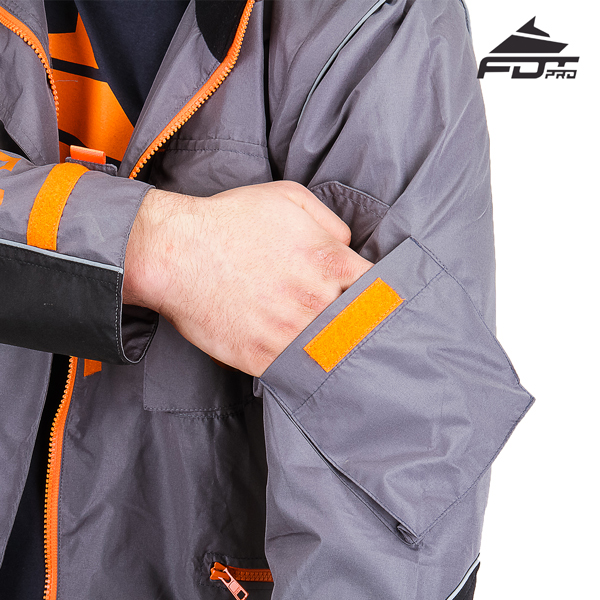 Grey Color FDT Professional Design Dog Tracking Jacket with Comfortable Sleeve Pocket